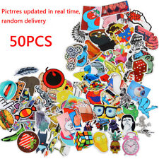 50Pcs Random Cool Cute Stickers Skateboard Sticker Lot Laptop Luggage Car Decal