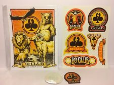 NEW Pearl Jam 2014 Ten Club gift, Lithograph Poster, Patch, Stickers, 10Club