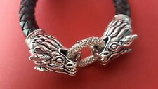 Thomas Sabo Armband Leder Sterling Silber Drache 925 Rebel at heart neuwertig