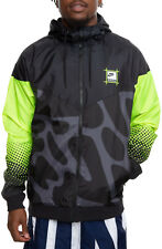 Nike Men's Sportswear Gel Retro Future Windrunner Jacket L Black Volt Hoodie