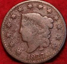 1827  Philadelphia Mint Copper Coronet Head Large Cent