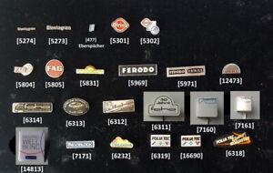 Auto Zulieferer/Zubehör (E+F) Anstecknadeln car parts pins badges AUSSUCHEN