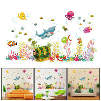 Large Removable Wall Paper Shark Fish Wall Stickers For Kids Room Decal Home Art