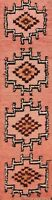 Vintage Thick-Plush Geometric Berber Moroccan Hand-knotted Narrow Runner Rug 2x9
