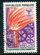 STAMP / TIMBRE FRANCE OBLITERE N° 1545  SPORT / JEUX OLYMPIQUES GRENOBLE