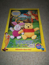 2002 Store Display Sign - Poster McDONALDS 26x38 WINNIE THE POOH BIONICLE Cards