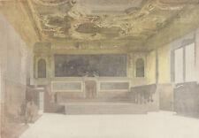 AQUARELLE XIXème ITALIE VENISE GRANDE SALLE DU SENAT