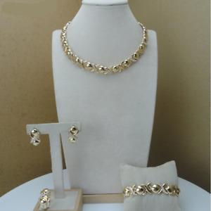 Hugs and Kisses Simple XO Plain Real 14k Gold Necklace Bracelet Ring Earrings 8