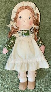 Holly Hobbie Amy Doll Green Girl 9 Inch Vintage 1970s by Knickerbocker