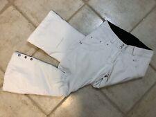 New listing Obermeyer White Ski Snow Board Malta Pants Lined Adj Waist Thinsulate Sz 2 Short