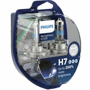 Philips RacingVision GT200 Car Headlight Bulbs H7 (Twin) *NEW 2020* 12972RGT200