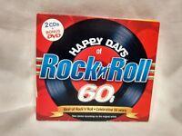 Rare Happy Days Of Rock N Roll 60's 2 CD Set + DVD 2004 Madacy            cd5580