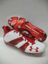 Under Armour Demolition Mid Pro Football Lacrosse Cleats Shoes White Red Mens 14