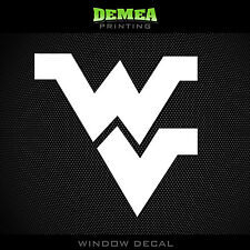 West Virginia - Mountaineers - WV - NCAA - White Vinyl Sticker Decal 5""