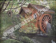 "Original Oil Painting ""Overgrown Mill"" 18""x 24"" - Framed"