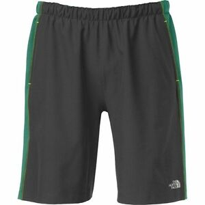 """The North Face Mens AMPERE DUAL 9"""" SHORTS Wicking Liner Running Gym X-Fit Grey M"""