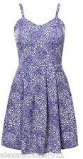 BNWT BLUE & WHITE SUMMER SCUBA SKATER DRESS 8 10 12 14