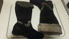 Ladies SOFT STYLES BY HUSH PUPPY mid calf Boots Faux Suede Size 7 WIDE