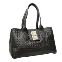 Ladies Real Italian Leather Alligator Print Women Shoulder Large Satchel Handbag