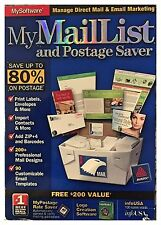 My Mail List And Postage Saver for PC Sealed Retail Box - Free U.S. Ship - Nice