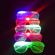 24 PCS LED Shutter Glasses Light Up Shades Flashing Rave Wedding Party Supplies