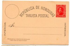 Honduras 1882 2c Postal Card H&G 1