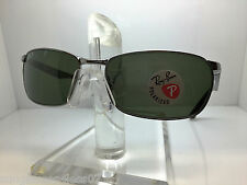 AUTHENTIC RAYBAN  RB 3534 004/58 GUNMETAL/GREEN POLARIZED LENS 62MM