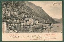 Lombardia, Brescia, lago di Garda. Il porto. Cartolina viaggiata nel 1905