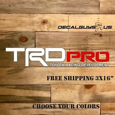 """TRD PRO Toyota Tacoma Tundra Racing Decals (Set of 2)   3x14"""" SHIPS FREE"""