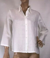 🌻 YALY COUTURE SIZE M LINEN SHIRT WITH PINTUCK PLEATS