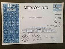 MEDCOM, Inc. healthcare company stock certificate, 1973, 100 shares (#C 15191)