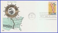 USA3 #1319 U/A COVER CRAFT FDC   Great River Road
