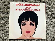Rare 1981 Liza Minnelli Double Vinyl LP Album Record Live Carnegie Hall Warhol