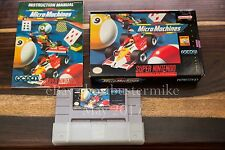 Micro Machines SNES CIB COMPLETE Box Manual Near MINT Super Nintendo System