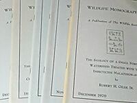 Wildlife Monographs by The Wildlife Society Lot of 6 1970-1973