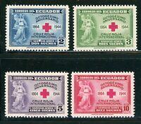 ECUADOR MNH Air Post: Scott #C131-C134 Red Cross 80th Ann CV$36++
