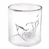CRYSTAL SKULL HEAD VODKA SHOT WHISKEY WINE BEER BAR GLASS DRINKING DECANTER CUP~