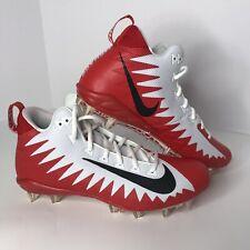 New Nike Alpha Menace Pro Mid Red White Football Cleats Sz 10.5 Mens Aj6604-107