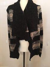Ashley Women's Maternity Knit Cardigan Sweater Size XL Extra Large Black Ivory