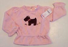 NWT Gymboree Girl Detective 12-18 Months Pink Scottie Dog Sweater