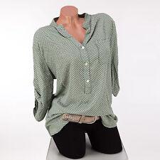 Geometrische Damenblusen,-Tops & -Shirts im Blusen-Stil mit V-Ausschnitt für Freizeit
