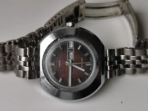 MENS VINTAGE TIMEX 27850 2773 MANUAL WIND DAY DATE CALENDAR WATCH SPARES OR REP