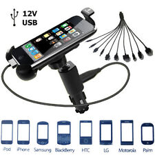 12v CAR MOBILE PHONE USB CHARGER CRADLE HOLDER iPHONE SAMSUNG NOKIA HTC LG iPOD
