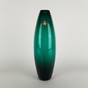 Mid Century Holmegaard Glass Vase Torpedo Per Lutken 19PL61 Greenland 16in