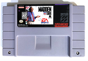 Madden NFL 98 SUPER NINTENDO SNES GAME Tested WORKING AUTHENTIC