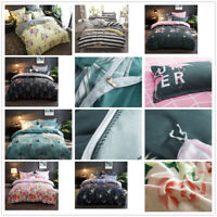 Microfiber Brushed Poly-cotton Duvet Set Single Double King with  2 Pillow Cases