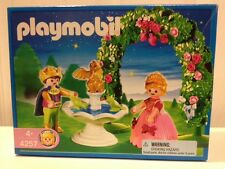 Playmobil 4257 Prince And Princess Fountain Gold Dragon Rose Arbor