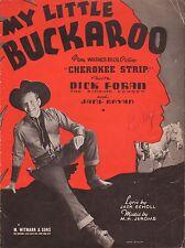 DICK FORAN western film song CHEROKEE STRIP Warner Bros. COWBOY PHOTOGRAPH 1937