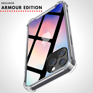 Case For iPhone 12, 12 Pro Max, Mini CLEAR Shockproof Cover Silicone Edge Phone
