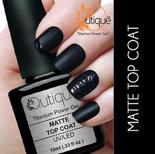 Qutique MATTE TOP COAT Soak Off UV/LED Gel Nail Polish Colour